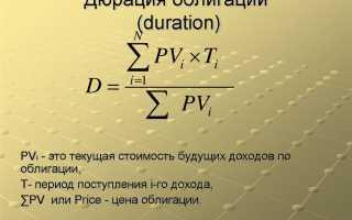 Дюрация облигации – понятие, способы расчета, примеры